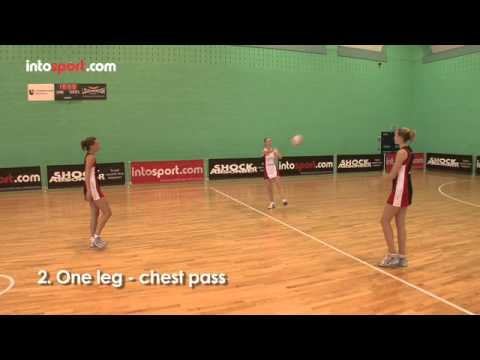 Netball Passing Drill- 3 Point Passing with Core Stability