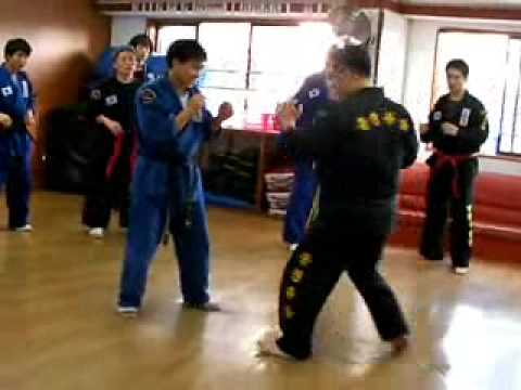 (50)real sparring strike training Gongkwon Yusul(Korea jiu jitsu Hapkido)
