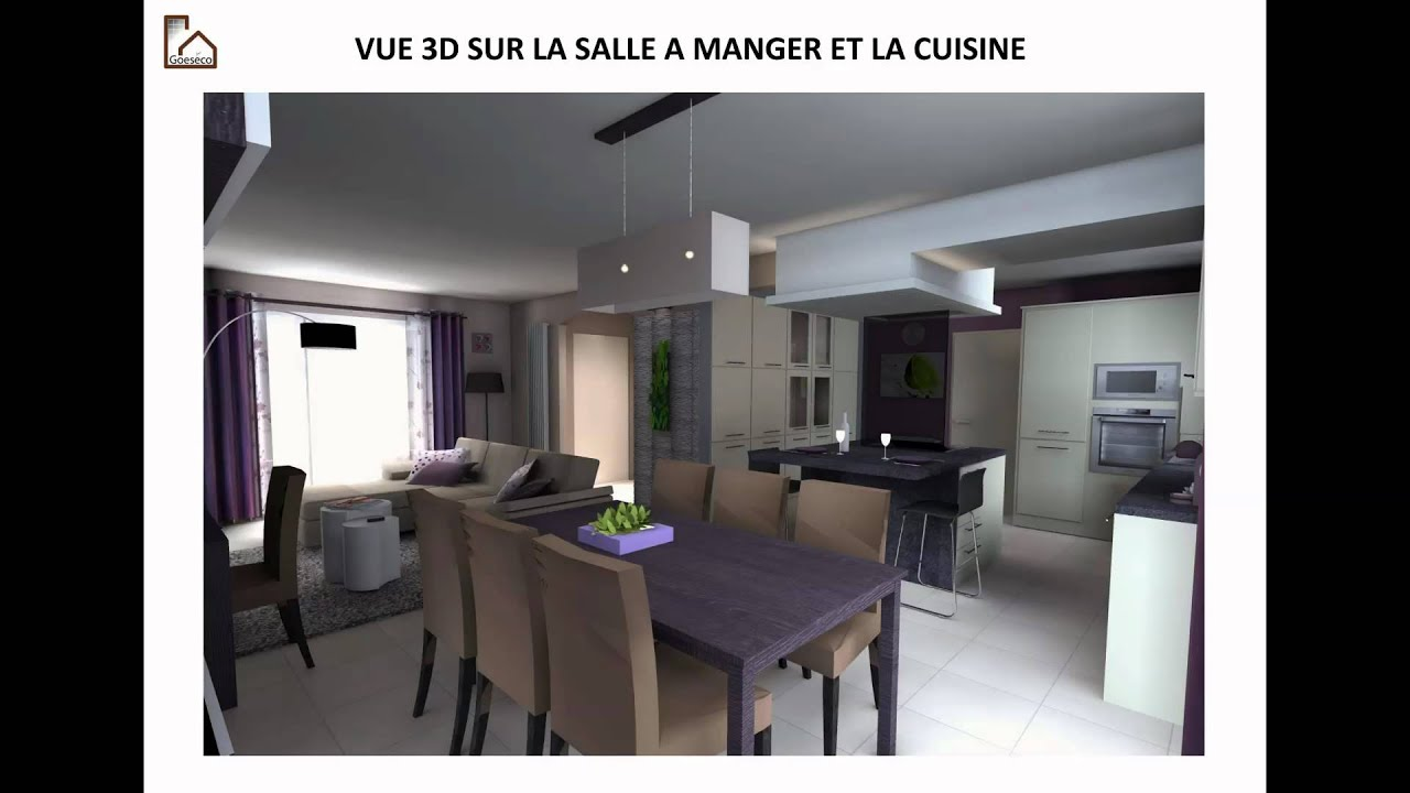 Une d co salon s jour cuisine zen youtube for Decoration cuisine et salon