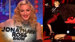 Madonna's Wardrobe Malfunction and Fall at the Brit Awards