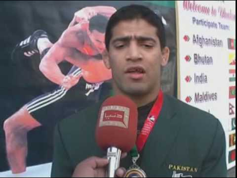 SAF GAMES INTERVIEW MUHAMMAD UMAR PEHLAWAN WITH DUNYA TV.DAT