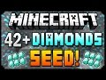 ★ Minecraft 1.8.3 Seeds - 42+ DIAMONDS AT SPAWN! - Best Diamond Seed