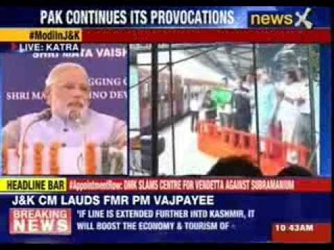 Modi flags off first Katra-Udhampur train, calls it a 'gift for the nation'