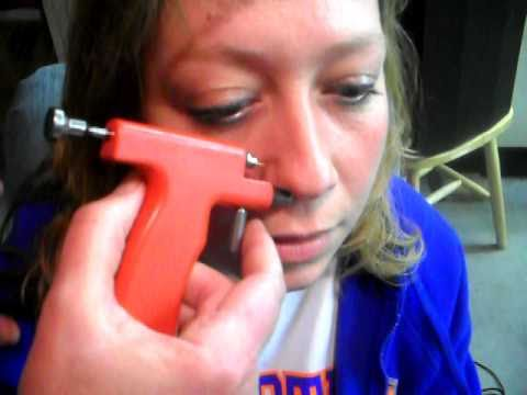 FAIL Peircing Terri's Nose -With a gun-