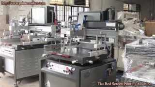 [China Flat Bed Screen Printing Machine,Flat Bed Screen Print...] Video