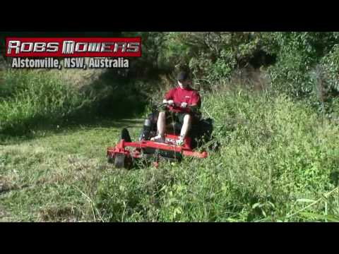 (HD) Gravely Zero Turn Hill Climbing by Robs Mowers Alstonville