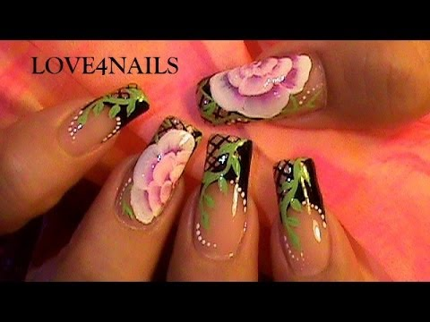 How To Paint a One Stroke Rose ~ Step by Step Tutorial, Learn how to paint roses on nails