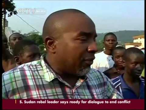 Central Africa Republic anti-French Protest