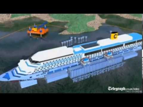 How will the Costa Concordia cruise ship be salvaged?