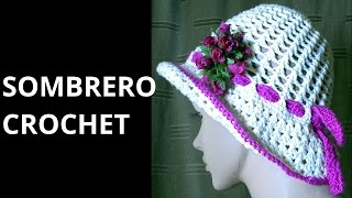 Sombrero Punto Cruzado En Tejido Crochet Tutorial Paso A