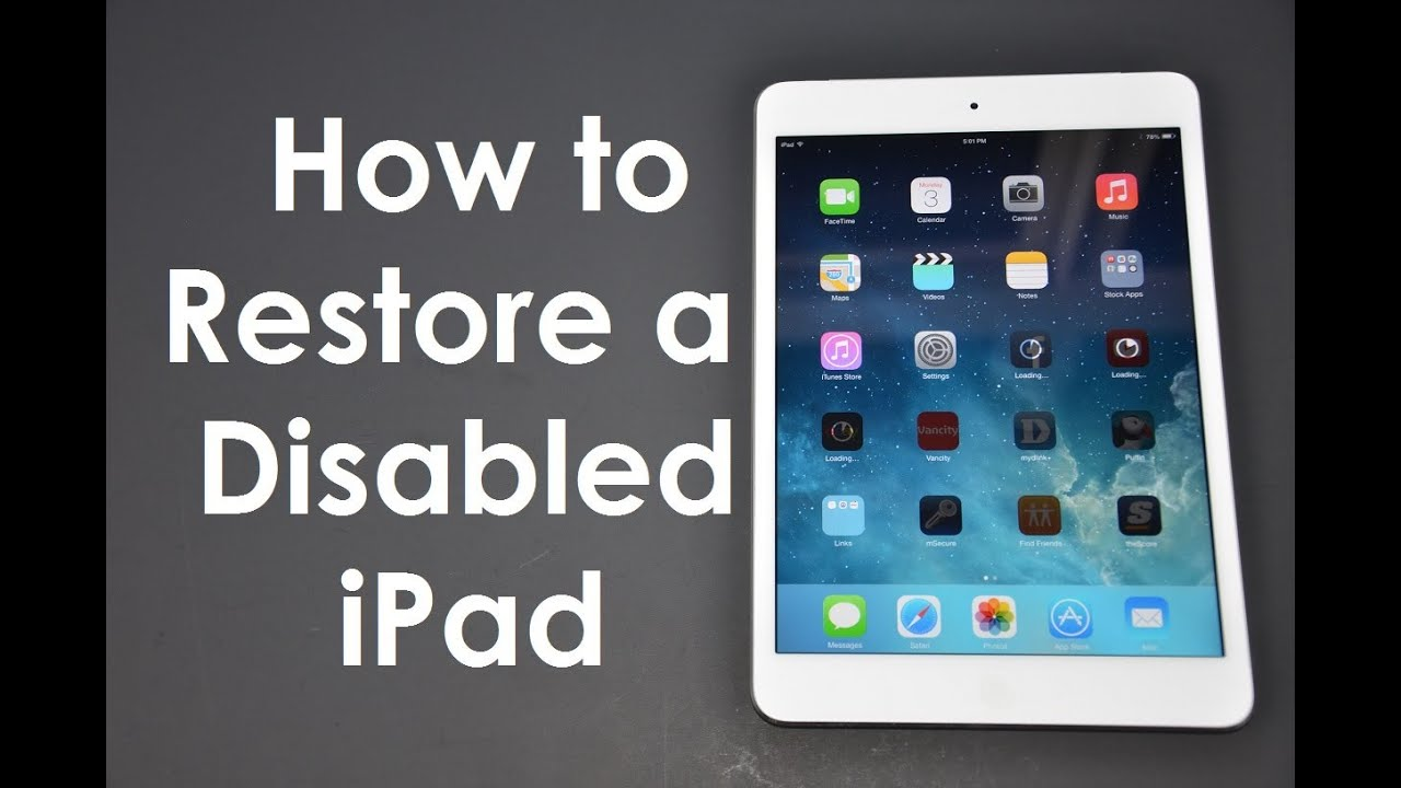 How to fix forgot passcode disabled iphone ipad ios8 or ios7
