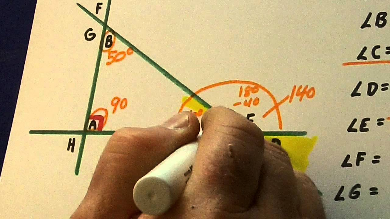 how to find the unknown angle measure of a triangle