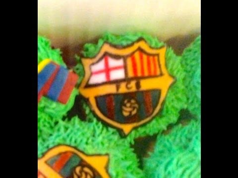 How to Make FC Barcelona Cupcakes! (Part 1) | Cupcake Tutorial
