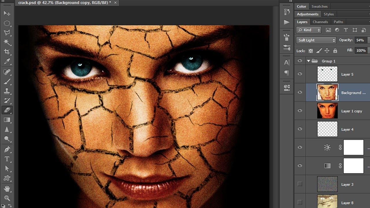 Create an Amazing Cracked Skin Effect in Photoshop (Part 1)