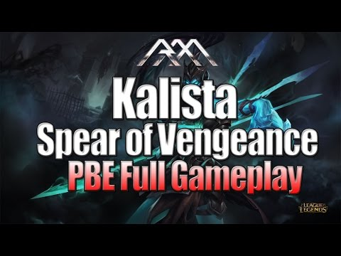 Kalista Gameplay - League of Legends - Full Game Commentary