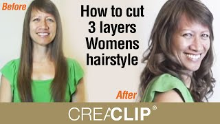 How To Cut 3 Layers Womens Hairstyle- Lots Of Layering And