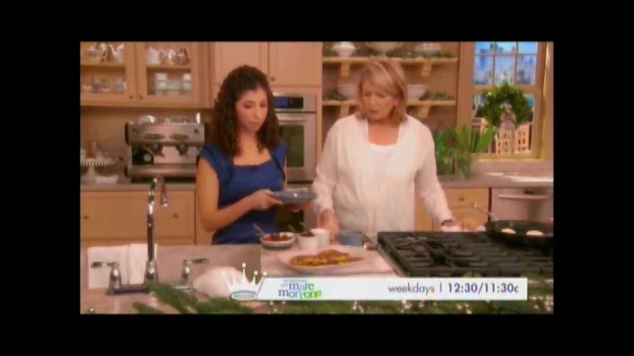 The Martha Stewart Show - Ukrainian Cheese Blintzes - YouTube