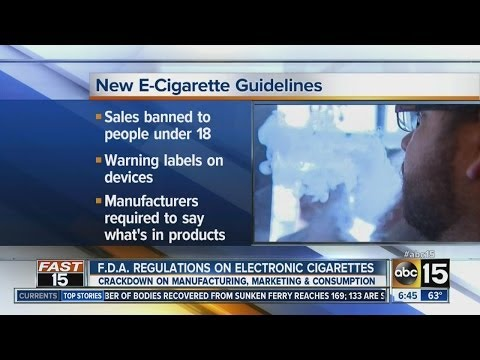 FDA regulations on electronic cigarettes