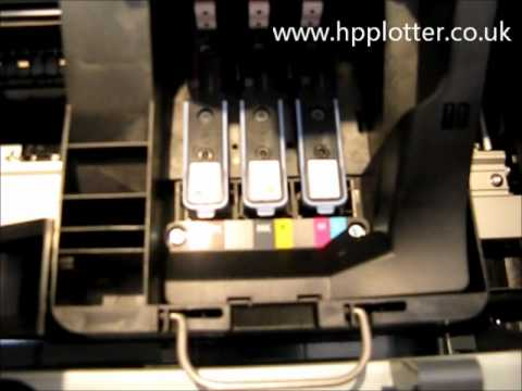 Designjet  T770/T1200 Series -  Replacement of printhead on your printer