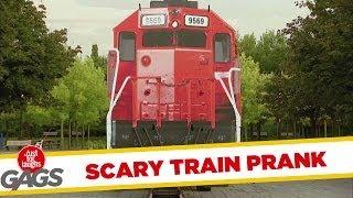 Scariest Runaway Train Prank