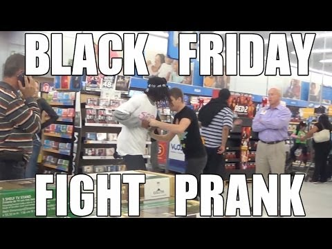 Black Friday Fight Prank Video