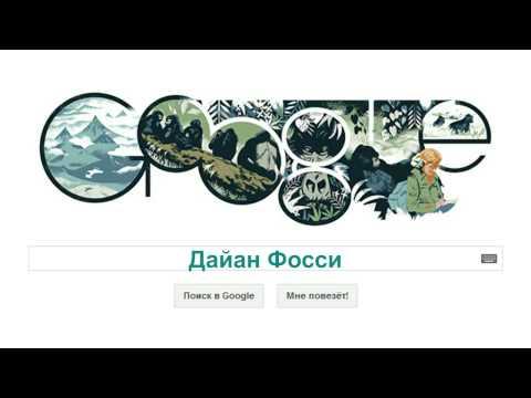 Дайан Фосси (Google Doodle Dian Fossey)