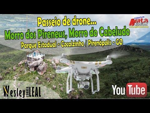 Passeio de Drone: Morro do Cabeludo e Morro dos Pirineus (Cocalzinho / Pirenópolis - Goiás)