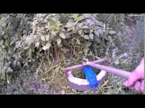 Механическая самодельная газонокосилка