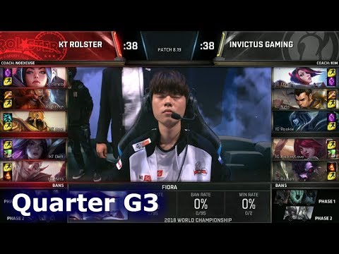 KT vs IG Game 3 | Quarter Final S8 LoL Worlds 2018 | KT Rolster vs Invictus Gaming G3