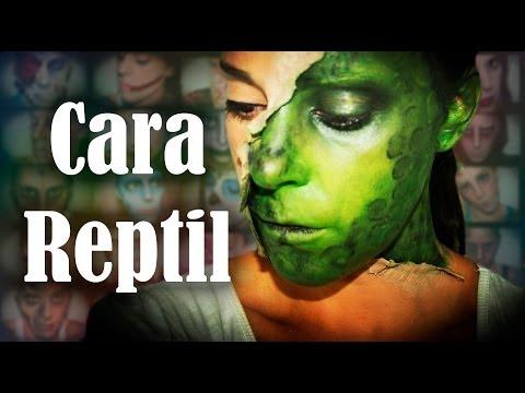 Maquillaje Halloween: Media cara reptil, FX #33 | Silvia Quiros