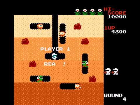 Dig Dug - My first time playing - User video