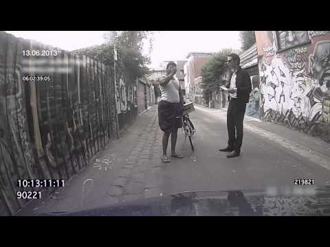 Police pull over Sri Lankan bike rider