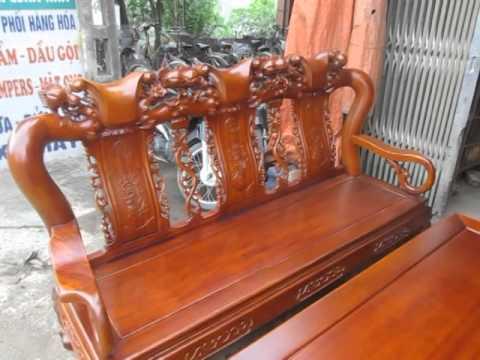 Bộ ghế quốc đào, gỗ gụ, cột 12, Đồ gỗ Đức Hiền 1/4/2014