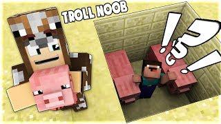 TẠI SAO NOOB BỊ CHÔN CÙNG BẦY HEO TRONG MINECRAFT! (Troll Noob bằng cách biến noob thành heo)