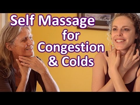 Self Massage for Congestion, Cold Remedy Tips, How To Lymph Face & Neck Massage Therapy Techniques