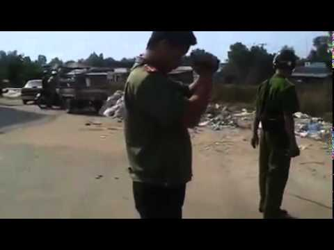 Bé trai 15 tuổi đả đảo CSVN cướp đất