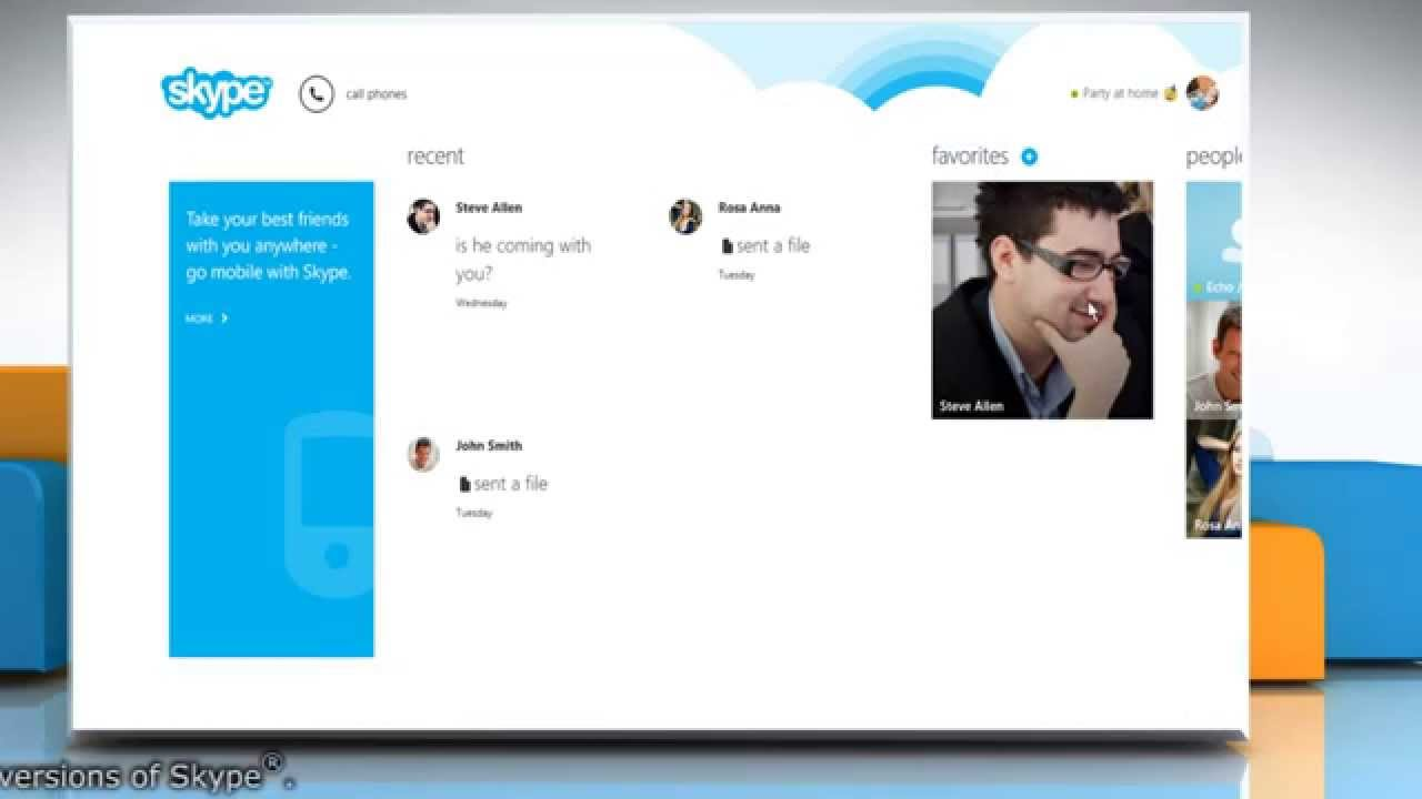 how to delete contacts on skype windows 8