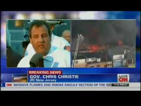 BREAKING: Gov. Christie Addresses Massive Blaze on New Jersey Broadway