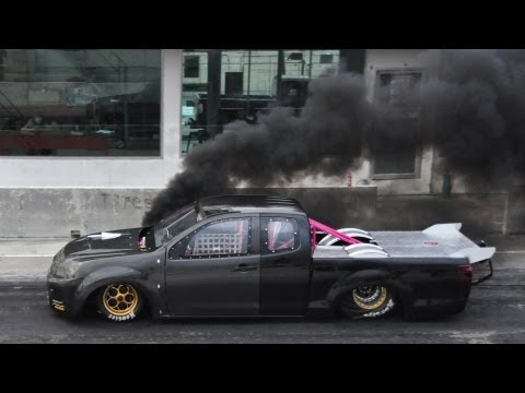 Test Run - Thailand Drag Diesel to USA - Camera GPS in Drag car (16/8/