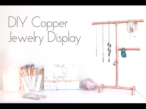 DIY Copper Jewelry Display | Organizer