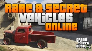 GTA 5 Online: Rare & Secret Vehicle Locations! [GTA V Multiplayer]