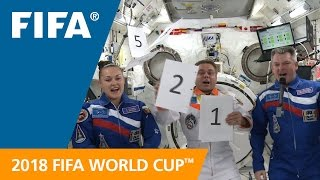 Russian astronauts revealed the Official Emblem of the 2018 FIFA <b>World Cup</b> Russia™ from the International Space Station.</div><div class=