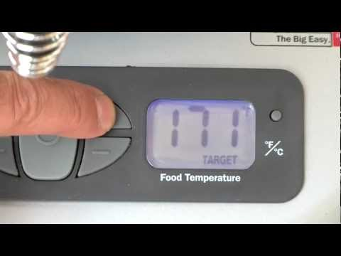 Setting The Target Temperature - Char-Broil TRU-Infrared Big Easy 2-in-1 Electric Smoker & Roaster