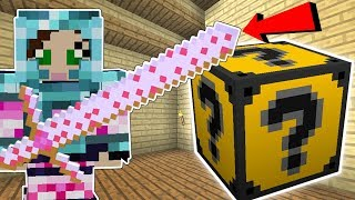 Minecraft: JEN'S FAVORITE LUCKY BLOCK!! (PINK WEAPONS, SPOOKAY CRAFTING, & MORE!) Mod Showcase