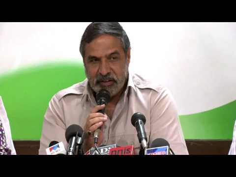 AICC Press Conference addressed by Anand Sharma on April 3, 2014