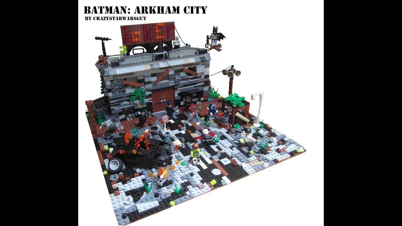 Lego Batman Moc Arkham City Youtube Building Lego City Train Station
