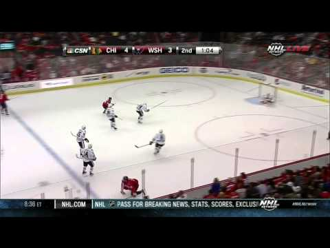 Eric Fehr goal 4-3 Chicago Blackhawks vs Washington Capitals 9/20/13 NHL Hockey