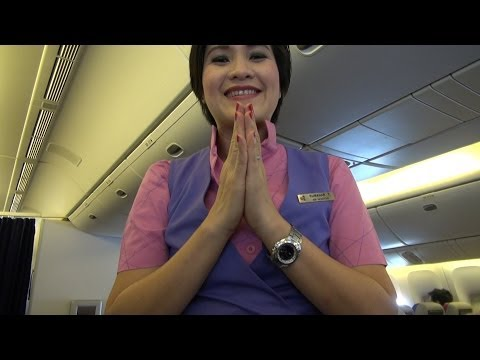 Thai Airways night flight, Bangkok to Brisbane, Boeing 777-200