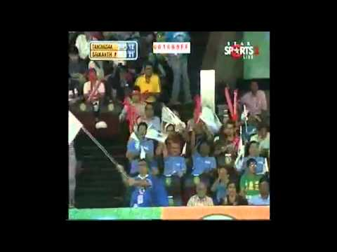 IBL 2013   Final  Hyderabad HotShots TANONGSAK  vs  Awadhe Warriors SRIKANTH game 1