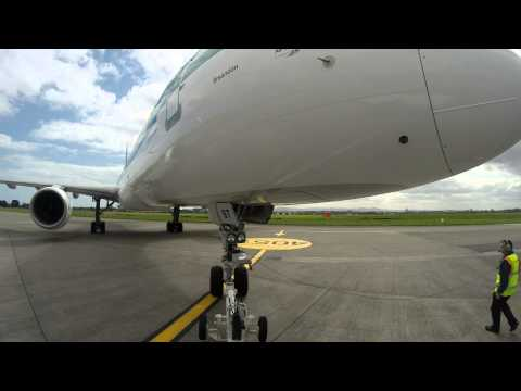 Pushback of our Inaugural Dubin to Toronto Flight